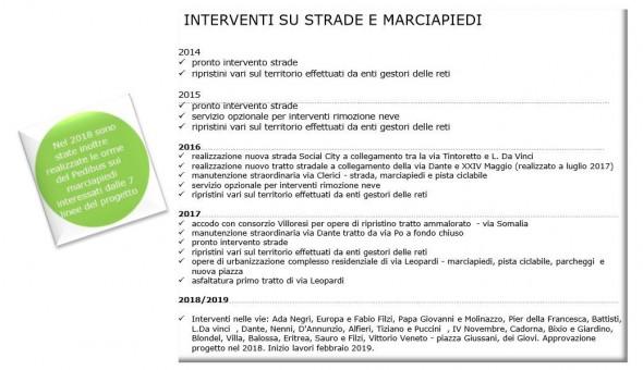 INTERVENTI STRADE E MARCIAPIEDI